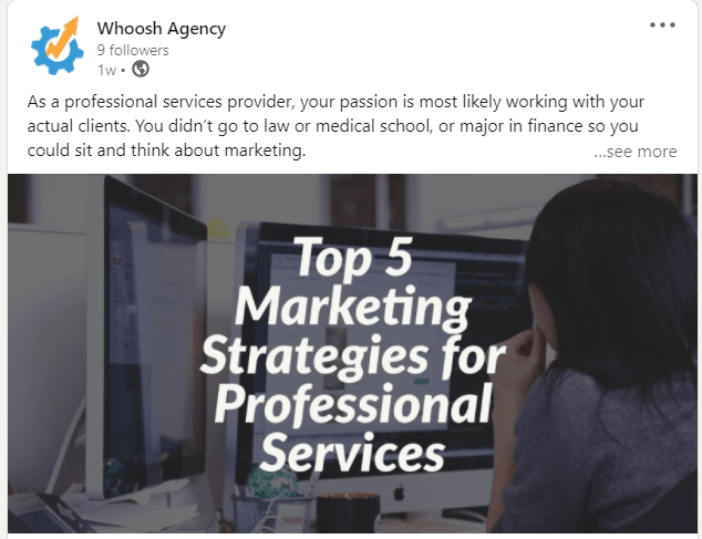 top 5 marketing strategies for professionals